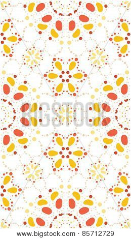 Vector Seamless Pattern Of Geometric Elements.