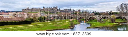 Carcassonne Fortress And Pont Vieux - France, Languedoc-roussillon