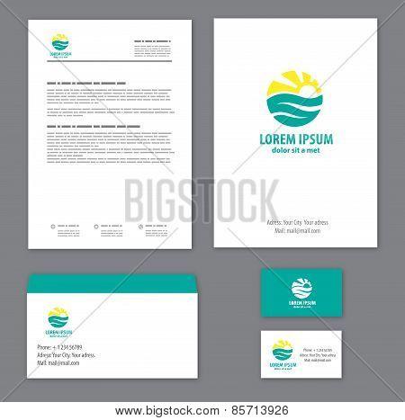 Corporate identity template Tourism