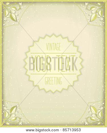 Vintage card template