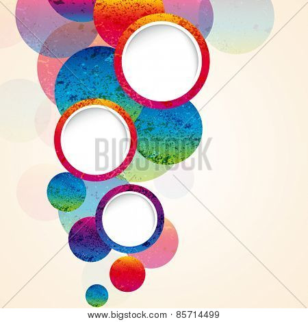 abstract design circles background. vector