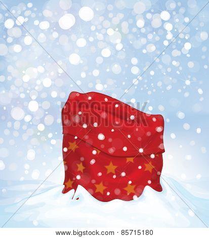 Vector Santa Claus bag.