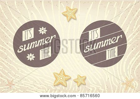 Set of two summer label