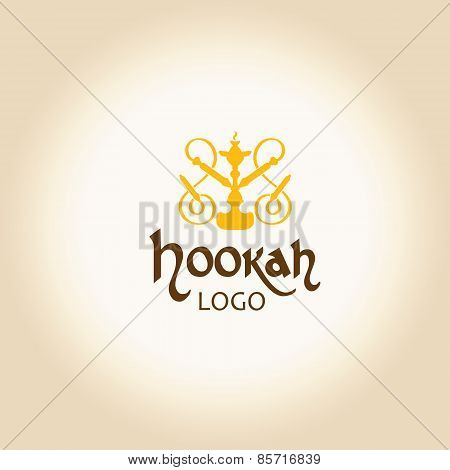 Hookah logo vector illustration