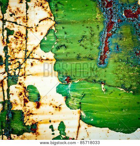 Grunge Texture Background. Rusty Metal.