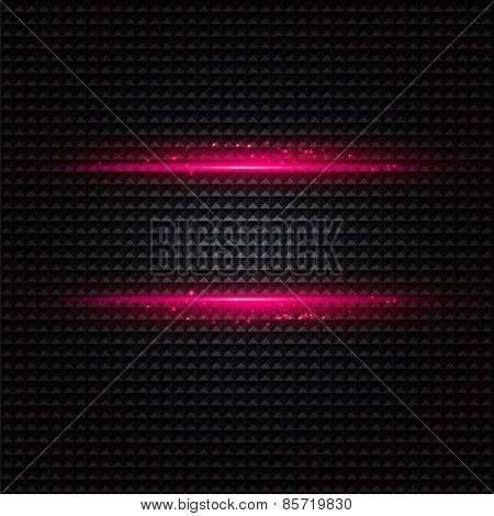 Abstract dark background with pink color light