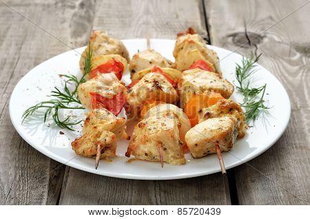 Grilled Chicken Shish Kebab