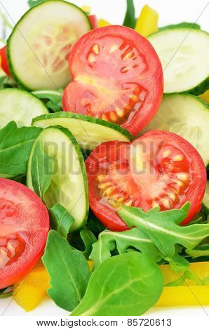 Fresh Vegetable Salad, Close Up View