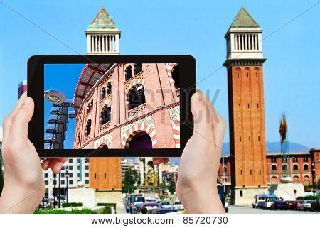 Tourist Photographs Of Placa Espanya, Barcelona