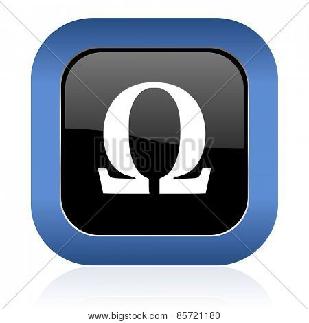 omega square glossy icon