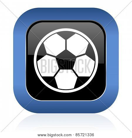 soccer square glossy icon football sign