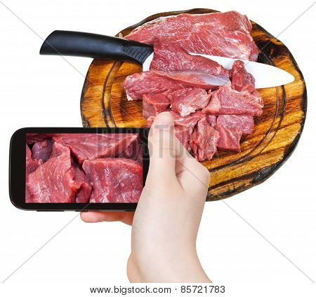 Tourist Photographs Of Cut Raw Meat