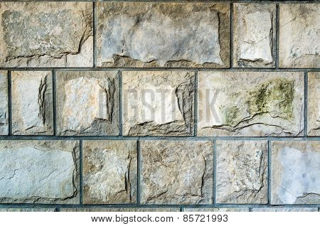 Closeup Of Old Stone Wall