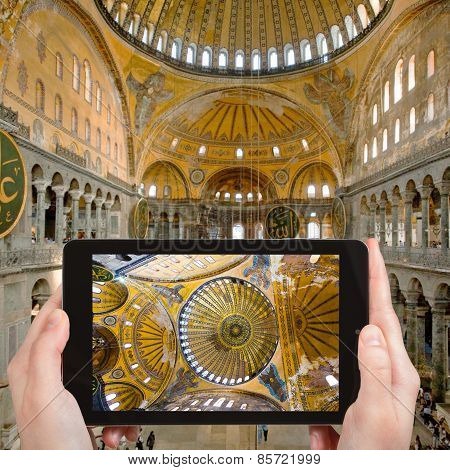 Tourist Photographs Of Hagia Sophia, Istanbul