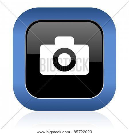 camera square glossy icon