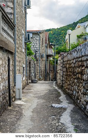 View On Old Street In Becici, Montenegro