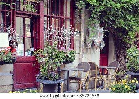 View on traditional parisian buildings in Paris, France.
