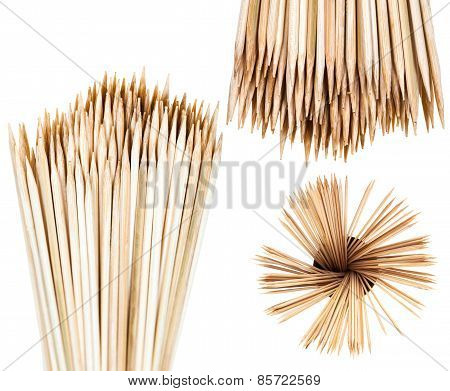 Many Wooden Toothpicks