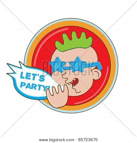 Party man vector illustration