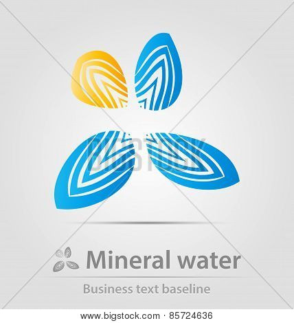 Mineral Water Business Icon