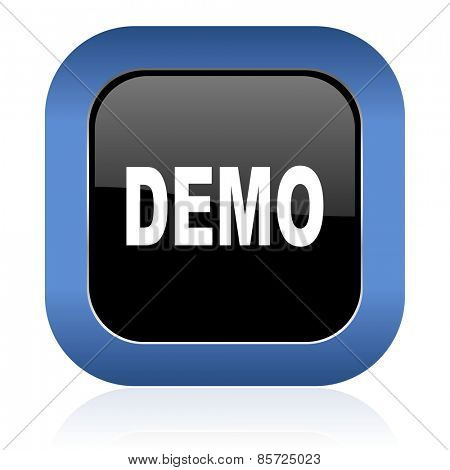 demo square glossy icon