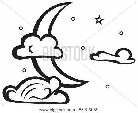 Moon. Evening crescent