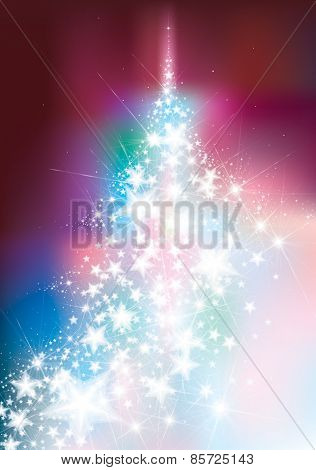 Vector Christmas Tree, Greeting Card.