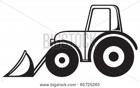 Agricultural machinery. Tractor