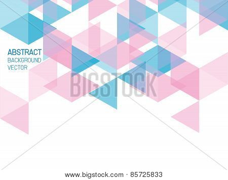 Abstract Background Geometric Blue And Pink