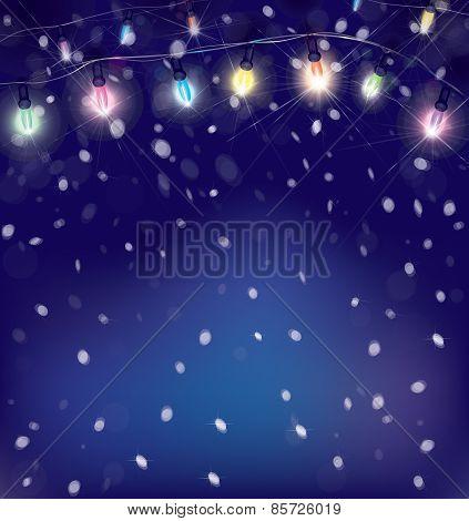 Vector Christmas lights.