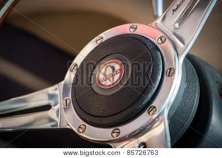 Cobra Steering Wheel Close Up.