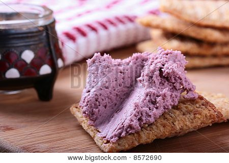 Wheat Crackers With Whipped Cream.