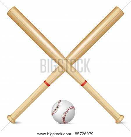 Realistic Baseball Bats And Ball