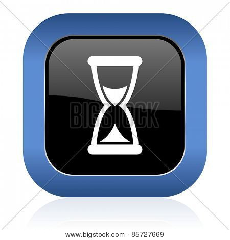 time square glossy icon hourglass sign