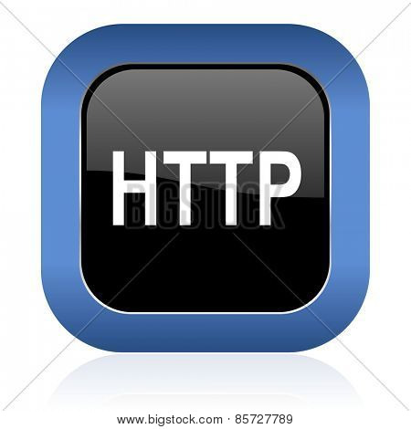 http square glossy icon