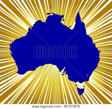 Australia Golden Silhouette