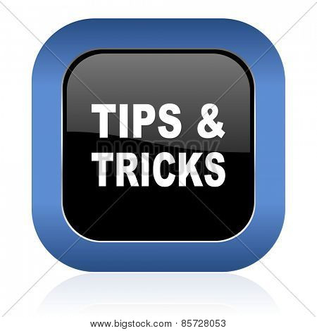 tips tricks square glossy icon