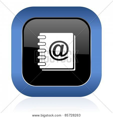 address book square glossy icon