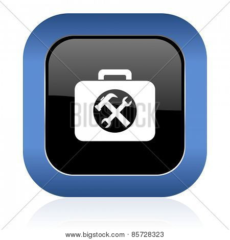 toolkit square glossy icon service sign