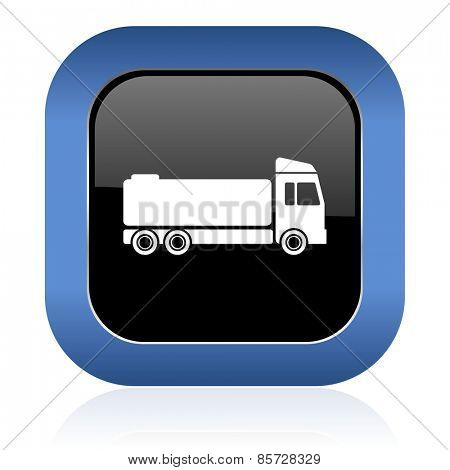 truck square glossy icon cargo sign