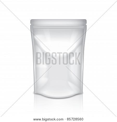 White Foil Packaging Isolated On White Vector