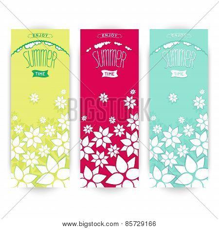 Summer vertical banners