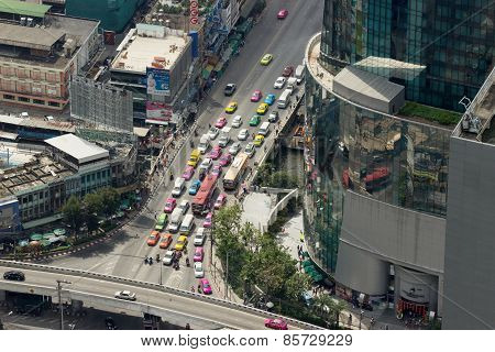 Thailand Street, View From A Great Height