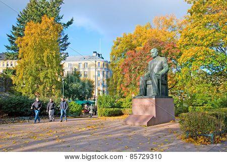 Helsinki. Finland. Kyosti Kallio Statue