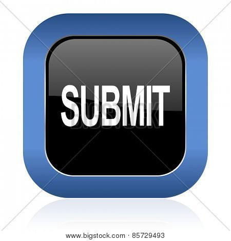 submit square glossy icon