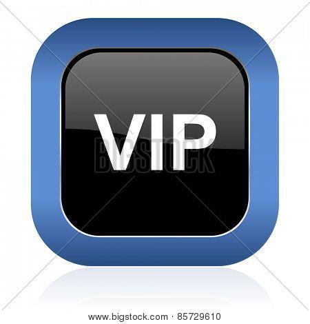 vip square glossy icon