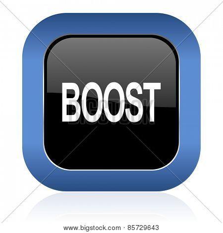 boost square glossy icon