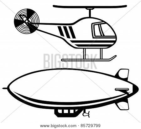 Helicopter and dirigible