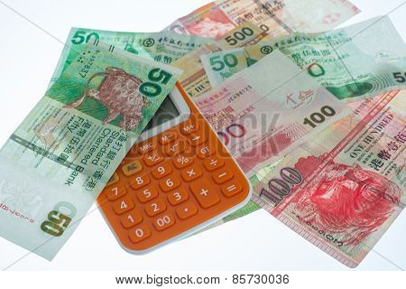Calculator And Hongkong Dollars