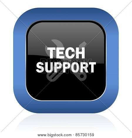 technical support square glossy icon